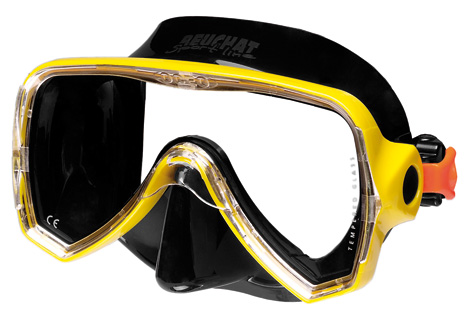 Mask Oceo Junior Yellow silicone black - Beuchat Thailand