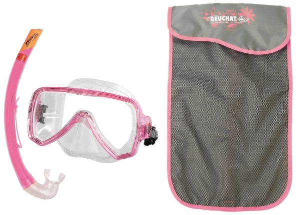 Set Mask Snorkel Oceo Senior Pink - Beuchat Thailand