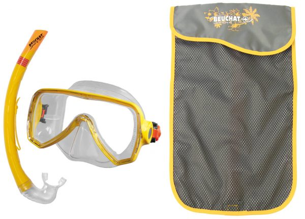 Set Mask Snorkel Oceo Senior Yellow - Beuchat Thailand