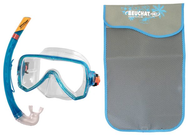 Set Mask Snorkel Oceo Senior turquoise - Beuchat Thailand