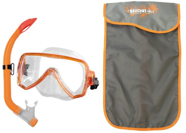 Set Mask Snorkel Oceo purge Orange - Beuchat Thailand