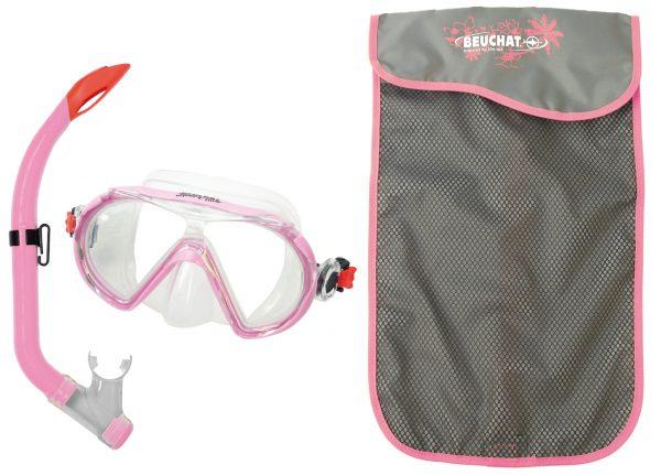 Set Mask Snorkel Voyager Pink - Beuchat Thailand
